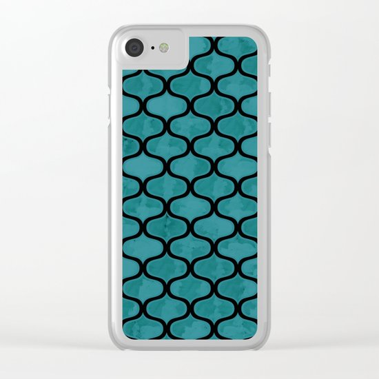 Watercolor Lovely Pattern VVXIV Clear iPhone Case
