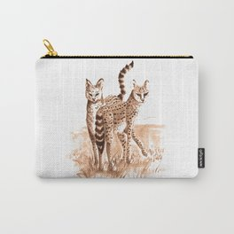 Sisters (Servals) Carry-All Pouch