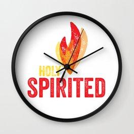 Catholic Confirmation Holy Spirited Grunge Wall Clock