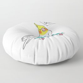 Skater Cockatiel - Just Keep Going Floor Pillow