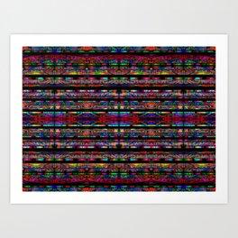 Aztec Geometry Art Print
