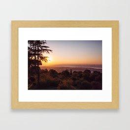 Sunset Over Istanbul #1 Framed Art Print