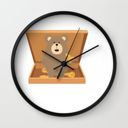 Brown Bear in Wall Clock