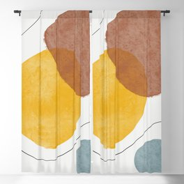 Creative minimalist hand painted abstract arts Blackout Curtain