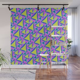 Neon Drawn Triangle Wall Mural