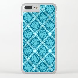 Octopus Cameo Pattern Clear iPhone Case
