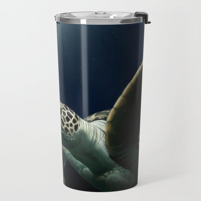 Light Shining down on a Sea Turtle Travel Mug