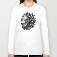 lion Long Sleeve T-shirts featuring Lion by BIOWORKZ