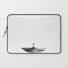 Green Lighthouse Laptop Sleeve
