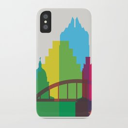 Shapes of Austin. Accurate to scale. iPhone Case