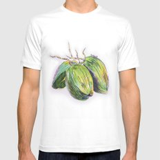 Island life coconut MEDIUM White Mens Fitted Tee