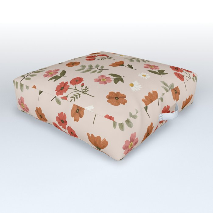 Among the Wildflowers Pattern Outdoor Floor Cushion