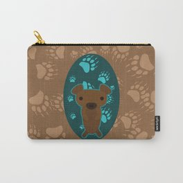 Bear with Paw Prints Carry-All Pouch