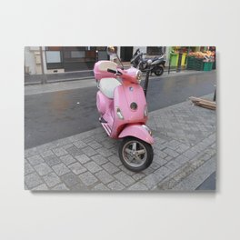 Pink scooter Metal Print