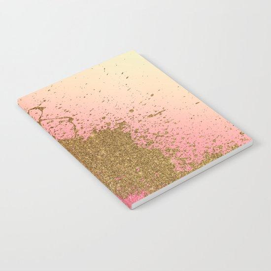 Golden pink shadows Notebook