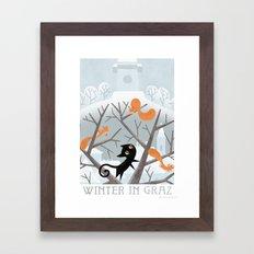 Winter in Graz Framed Art Print