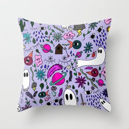 A Collection of My Mind Throw Pillow