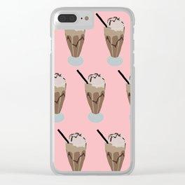 Milkshake pink Clear iPhone Case