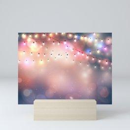 Holiday background Mini Art Print