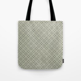Vintage chic green black geometrical floral pattern Tote Bag