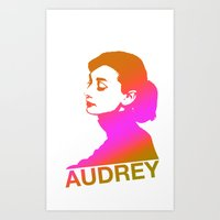 audrey Art Prints featuring Audrey by Bright Enough💡