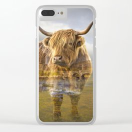 Highland cow recalls Clear iPhone Case
