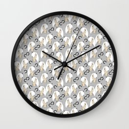 Peppermint Ponies White Wall Clock