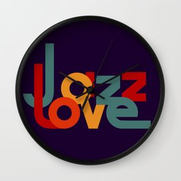Love Jazz Wall Clock
