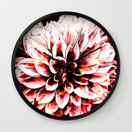 Strawberry Coated Flower Wall Clock