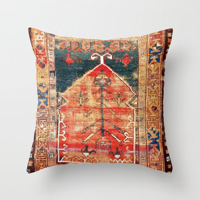 Konya Central Anatolian Niche Rug Print Throw Pillow