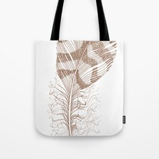 The Solitary Feather Tote Bag