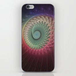 Abstract And Colorful Snail, Fractal Art iPhone Skin