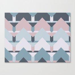 Scandi Waves #society6 #scandi #pattern Canvas Print
