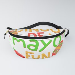 Cinco de Mayo Fun Sombrero and Maracas Fanny Pack