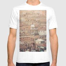 Venice MEDIUM White Mens Fitted Tee