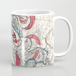 Beautiful Vintage Map of the Mississippi River Coffee Mug