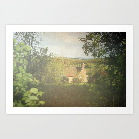 Sunday Cottage Art Print