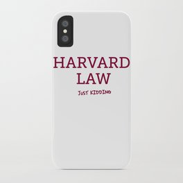 Harvard Law iPhone Case