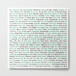 "208 Ways to Say ""Yes."" Metal Print"