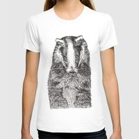 badger T-shirts featuring Badger by Meredith Mackworth-Praed
