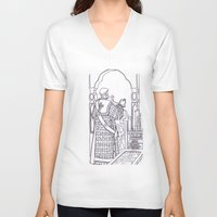 christian V-neck T-shirts featuring Christian service by Shelby Claire