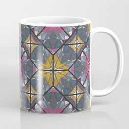 Mexican Tile Pattern Yellow Pink Coffee Mug
