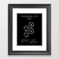 Soccer Ball Patent - Black Framed Art Print