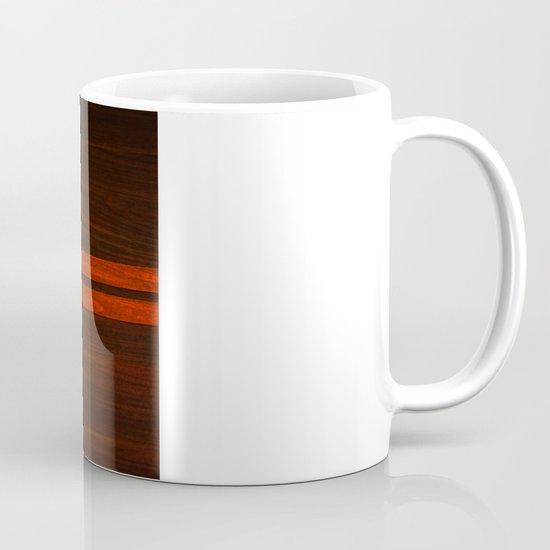 Wooden Striped Oak case Mug