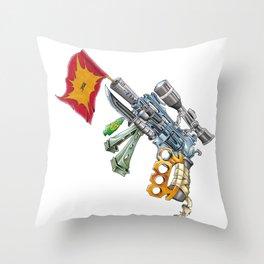 The Overcomensator Throw Pillow