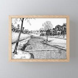 A walk to remember Framed Mini Art Print