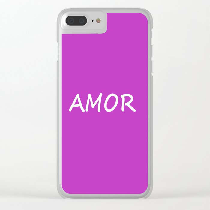 Amor, Spanish Love Clear iPhone Case