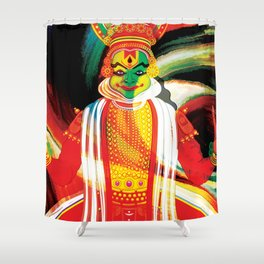 kathakali Shower Curtain