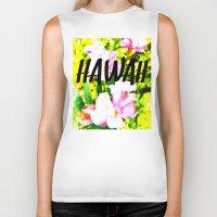 hawaii Biker Tanks featuring Hawaii by mattholleydesign