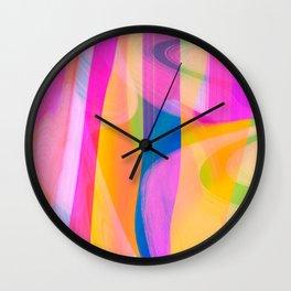 Digital Abstract #4 Wall Clock